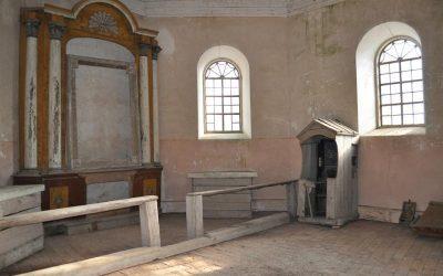Lygumų kapinių koplyčios interjero fragmentas